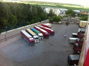 Lager Moskau, Transporte Russland