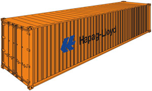 High Cube - General Purpose Container 40