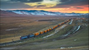 Container train from China to Europe
